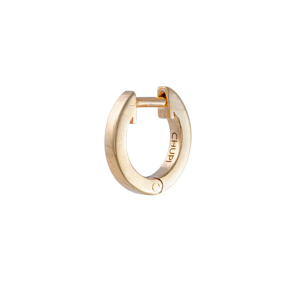 Chupi - Eternity Huggies Tiny Hoop Earring - Single - Solid Gold Earrings