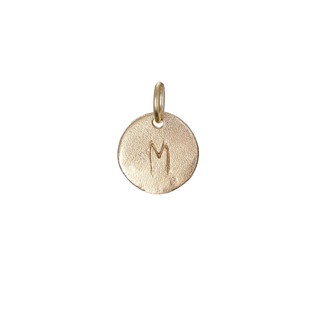 Chupi - Initial Necklace - Personalised Tiny Disc - I Am Yours Now