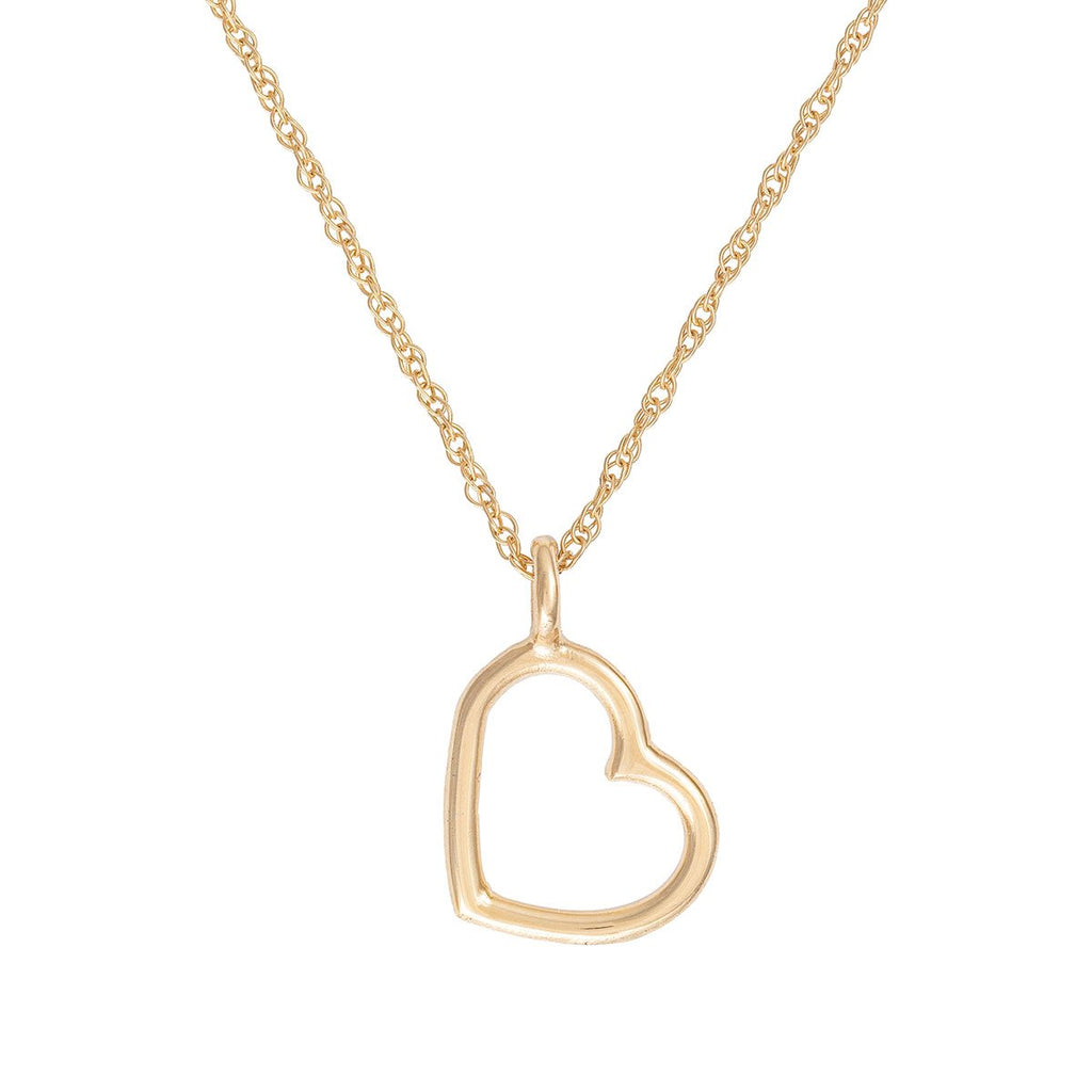 image-Solid Gold Love Heart Necklace