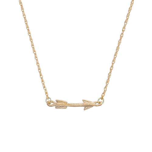 Solid Gold Follow Your Dreams Arrow Necklace