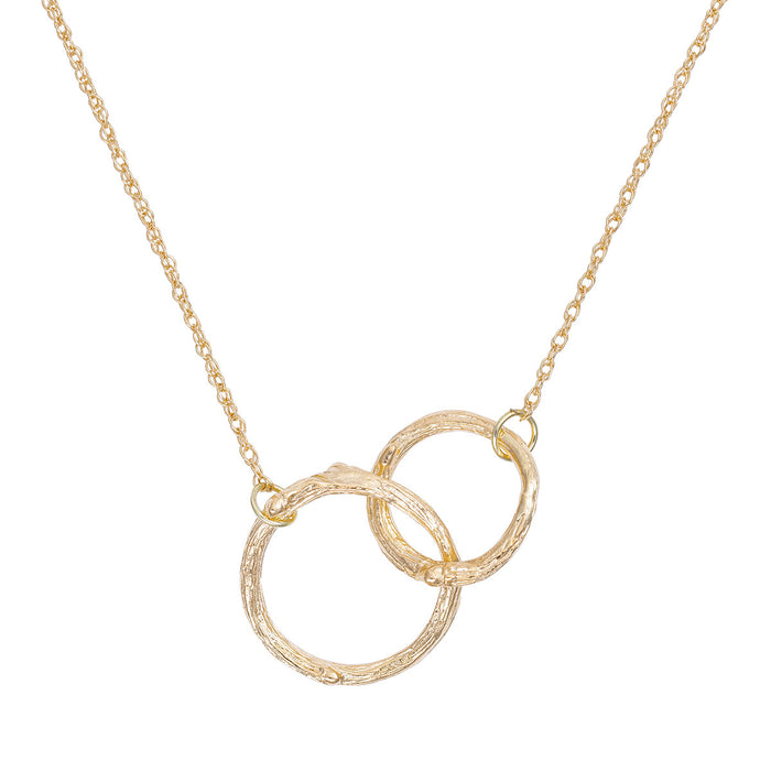 Chupi - Hawthorn Twig Necklace - Infinity Double Circle