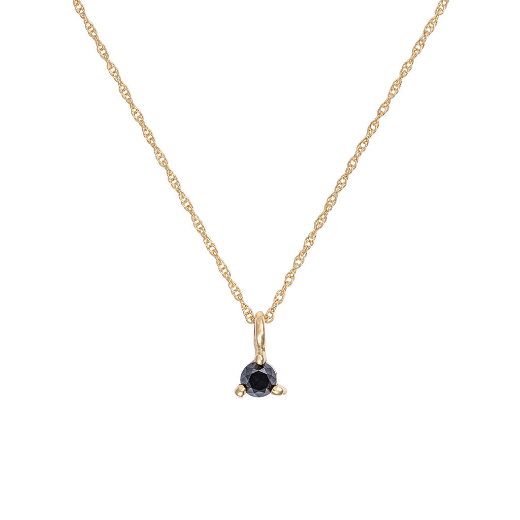 Chupi - Black Diamond Necklace - Hope & Magic Chain