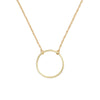 Solid Gold Circle Love Necklace
