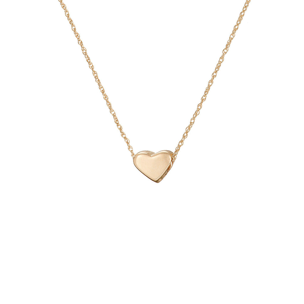 image-Solid Gold You Are My Heart Necklace ... 046054164