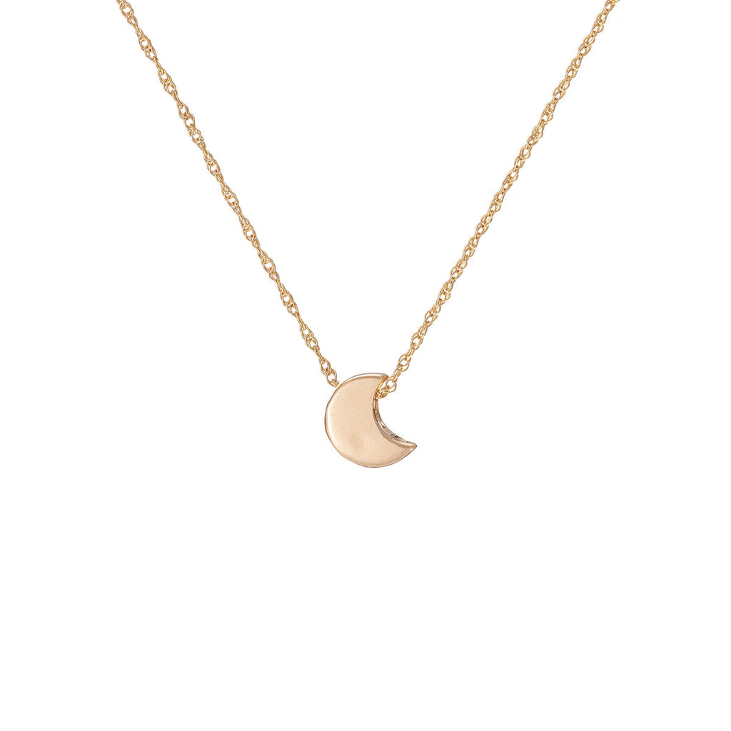 image-Solid Gold You Are The Moon Necklace