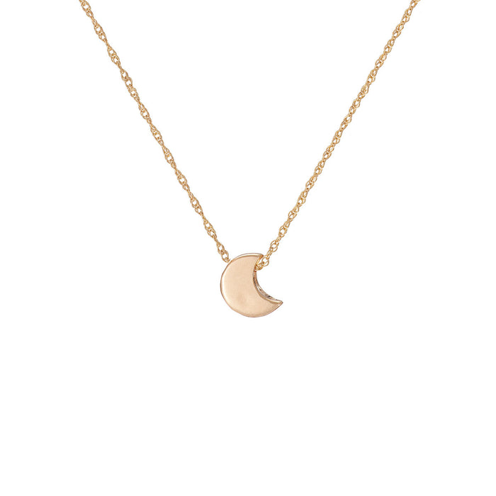 Chupi - Moon Necklace - Solid Gold You Are My Moon