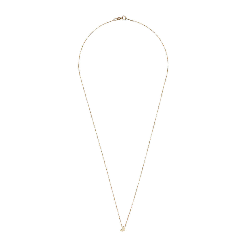 Solid Gold You Are The Moon Necklace