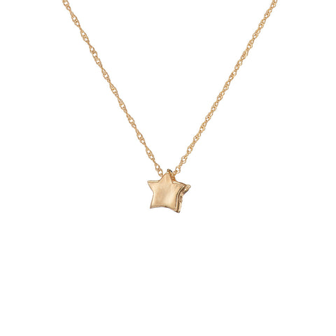 Chupi - Star Necklace - Solid Gold You Are My Star