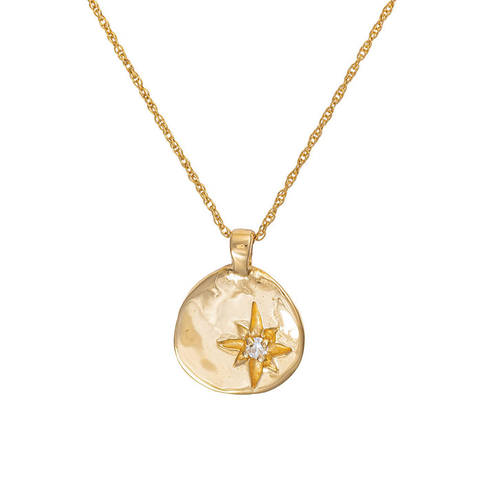 Chupi - North Star Diamond Necklace - Solid Gold