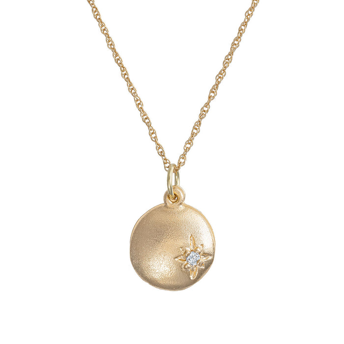 Chupi - North Star Locket - Solid Gold and Classic Diamond Necklace