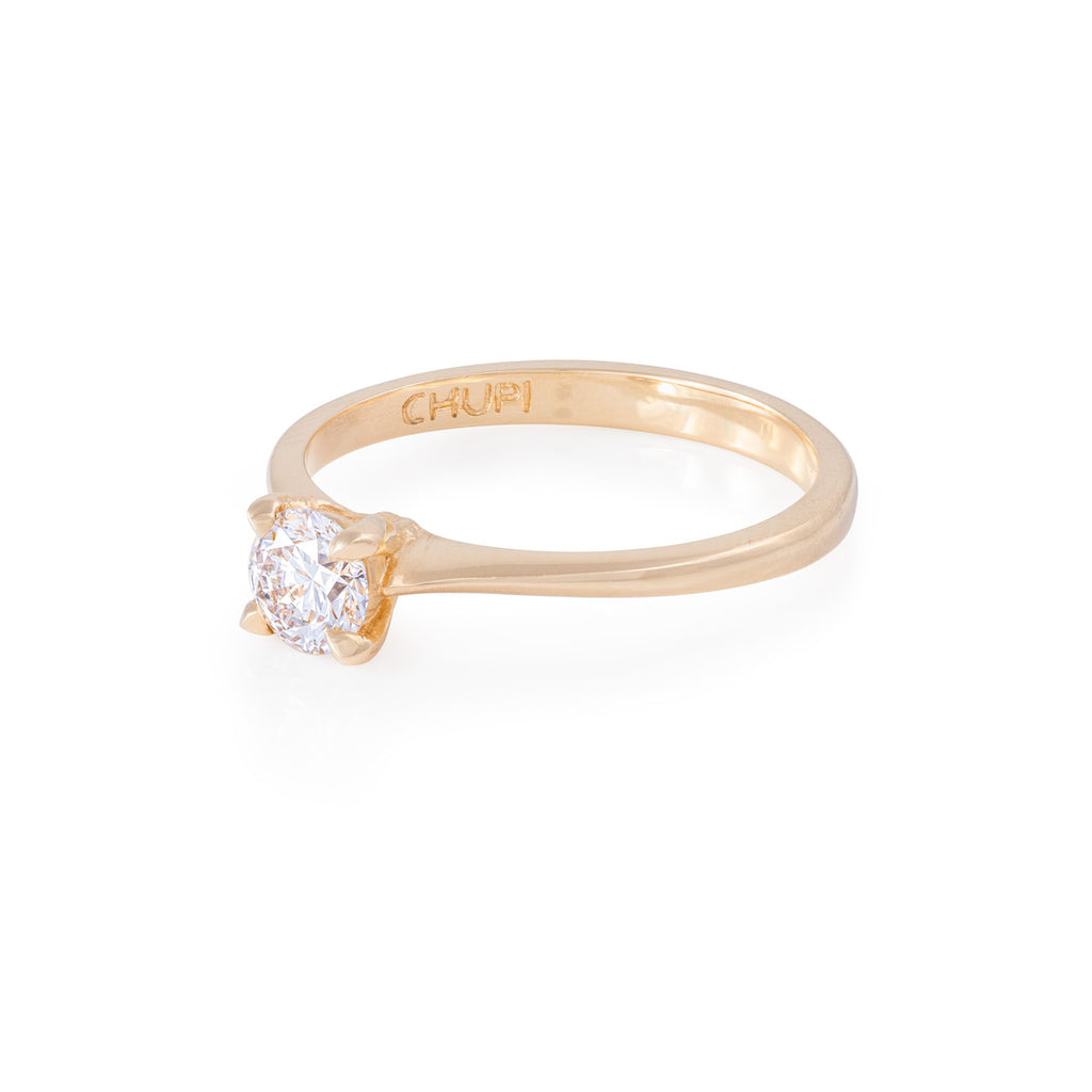 image-Solid Gold Darling in the Wild - Classic Diamond Polished Band Ring