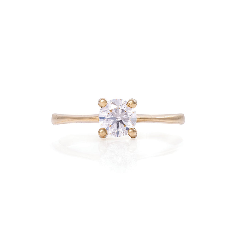 Solid Gold Darling in the Wild - Classic Diamond Polished Band Ring