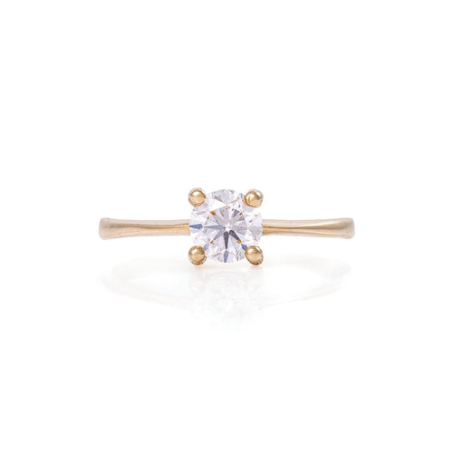 image of Solid Gold Darling in the Wild - Classic Diamond Polished Band Ring