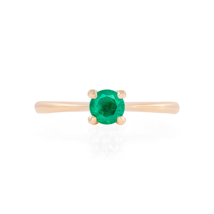 Darling in the Wild - 14k Polished Gold Emerald Ring