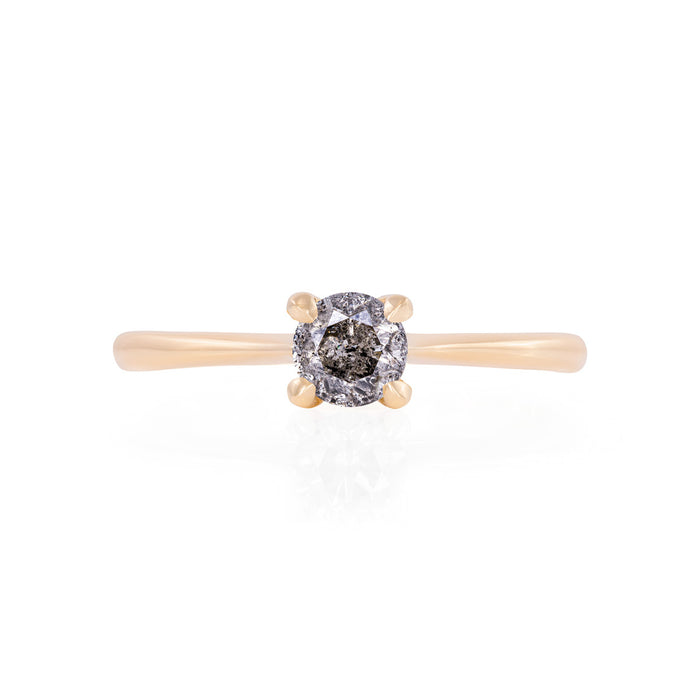 Darling in the Wild - 14k Polished Gold Grey Diamond Ring