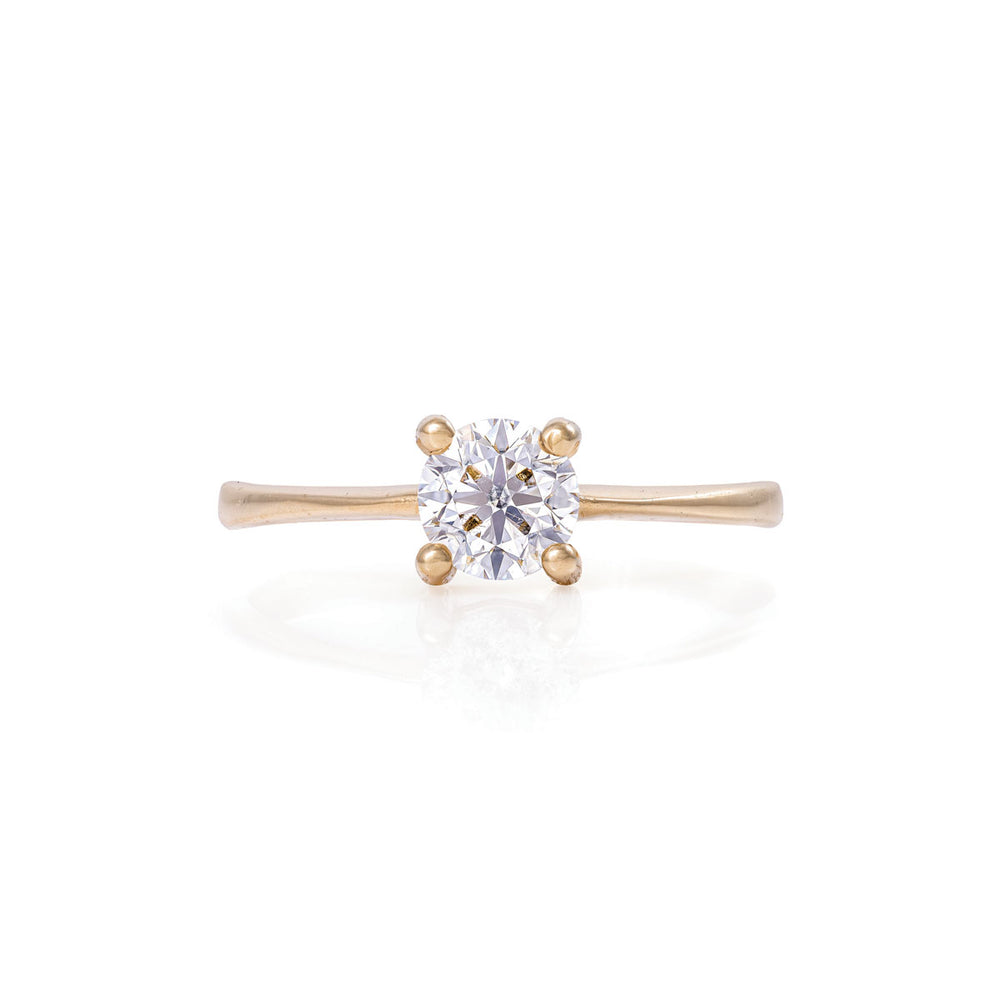 Solid Gold Darling in the Wild - Lab Grown Diamond Polished Band Ring