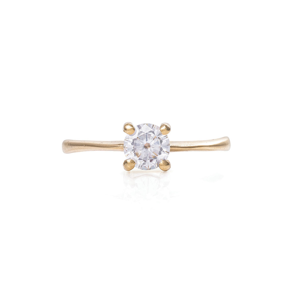 Solid Gold Darling in the Wild - Moissanite Polished Band Ring