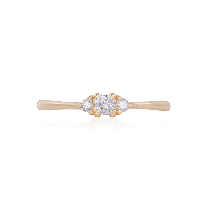 Dreamer Of Dreams - 14k Polished Gold Diamond Ring