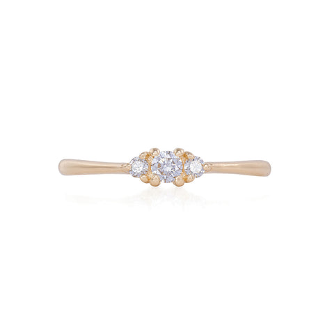 Solid Gold Dreamers of Dreams - Classic Diamond Polished Band Ring
