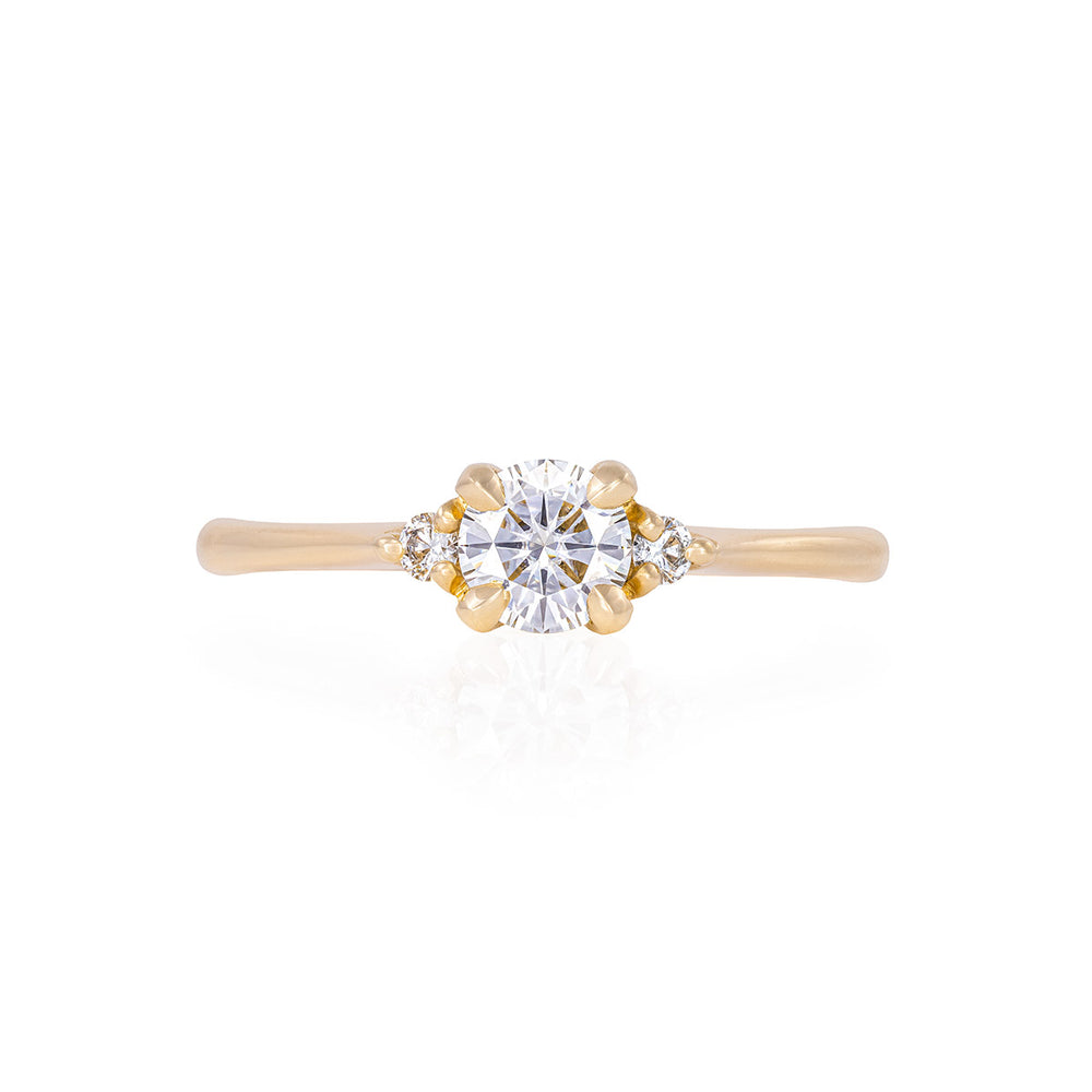 Solid Gold Love is All - Classic Diamond Polished Band Ring