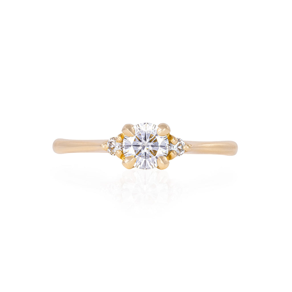 image-Solid Gold Love is All - Classic Diamond Polished Band Ring