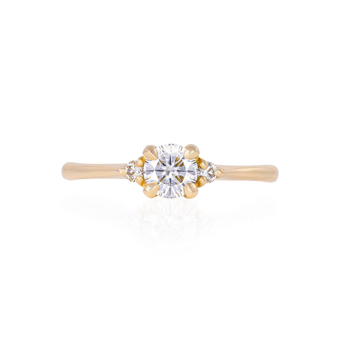 Solid Gold Love is All - Lab Grown Diamond Polished Band Ring