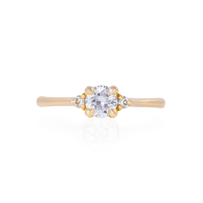 Love is All - 14k Polished Gold Moissanite & Diamond Ring