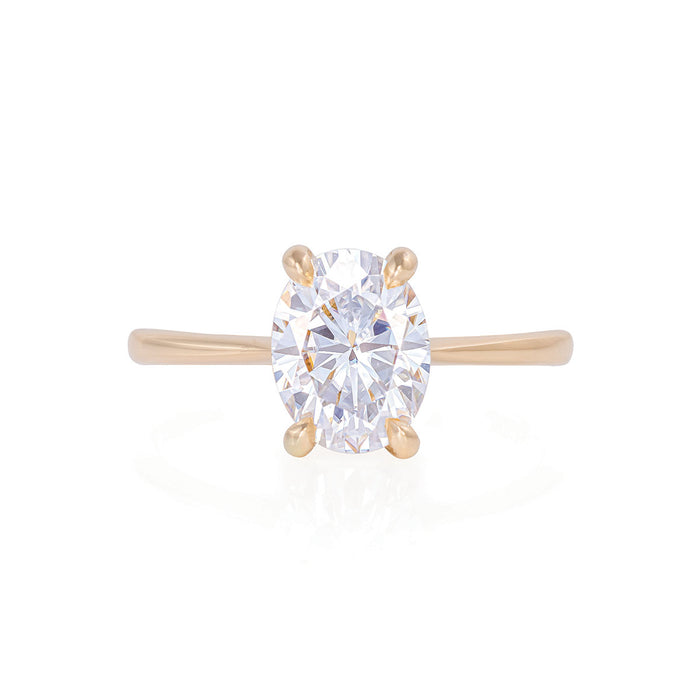 Solid Gold Moonlight - Lab Grown Diamond Polished Band Ring