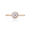 Queen of Hearts - 14k Polished Gold Lab-Grown Diamond Halo Ring