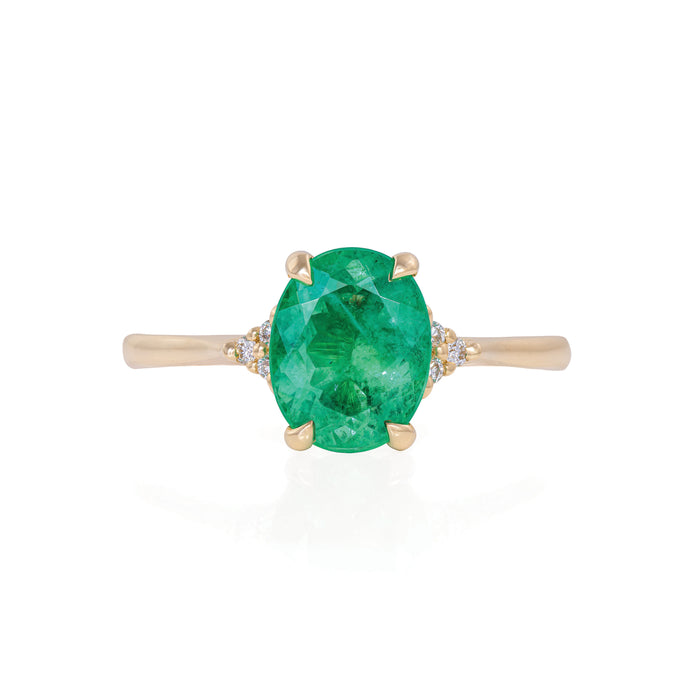 Starlight - 14k Polished Gold Emerald Ring