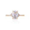 Solid Gold Starlight - Lab Grown Diamond Polished Band Ring