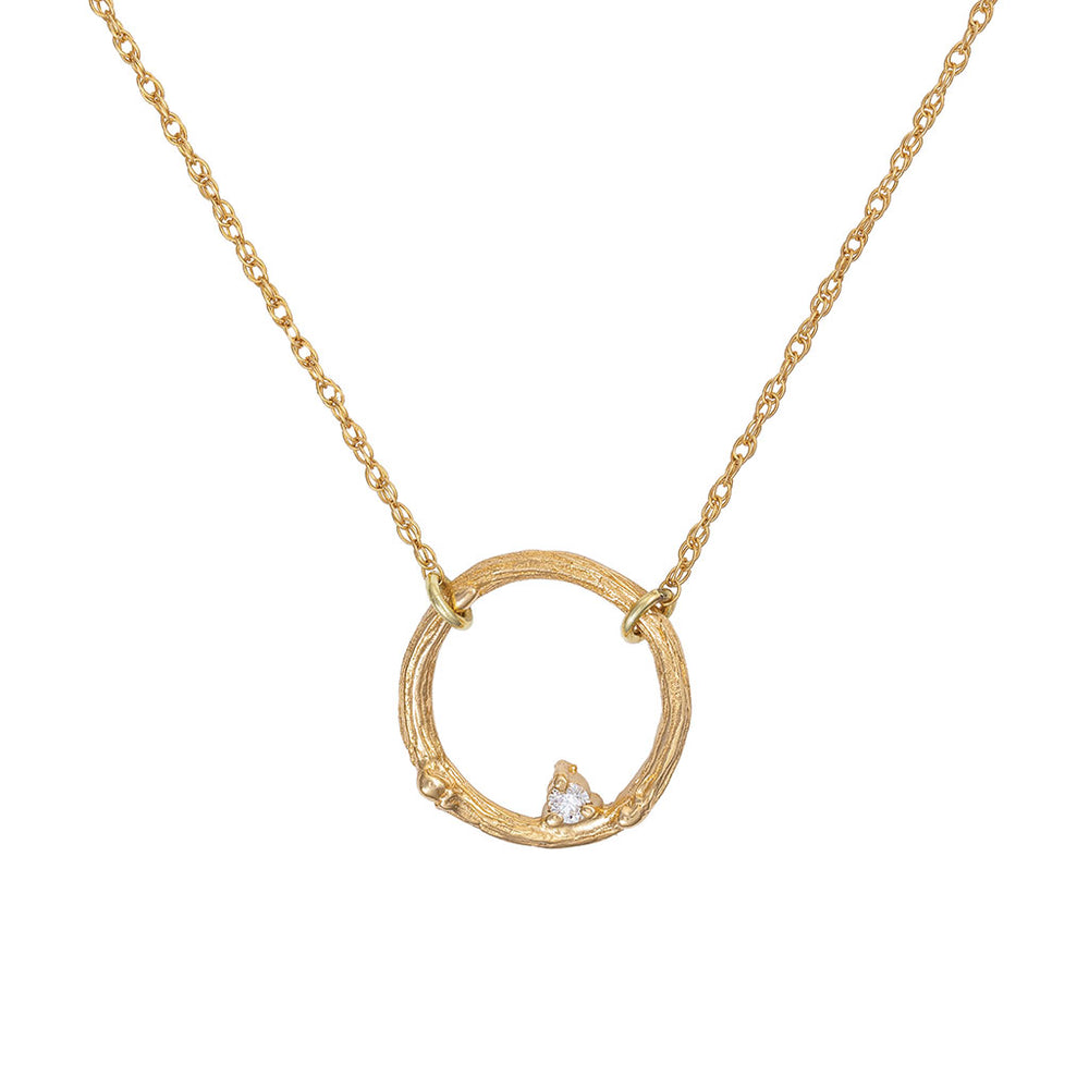 Chupi - Classic Diamond Solid Gold Necklace - Promise Me