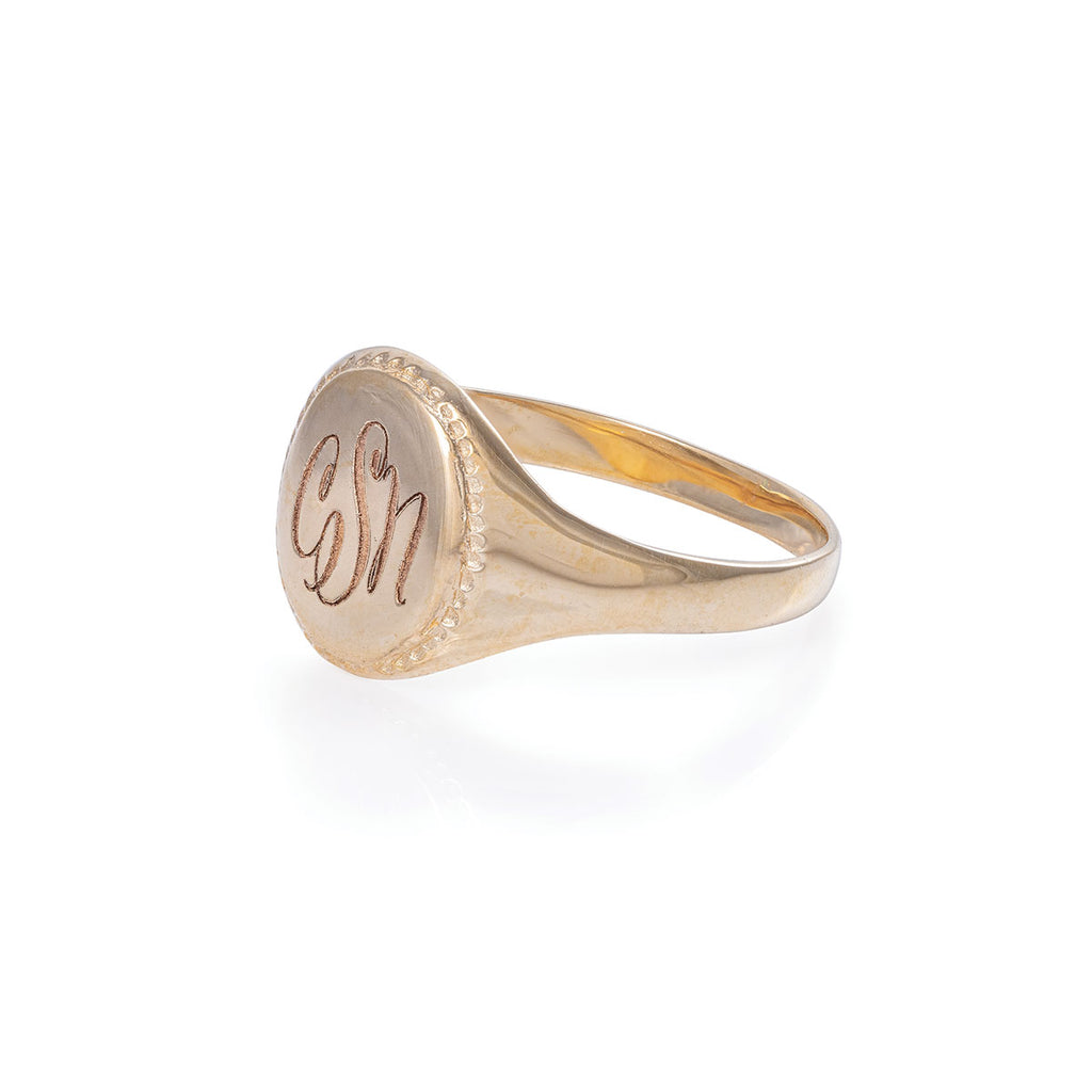 image-Solid Gold Always Remember Signet Ring