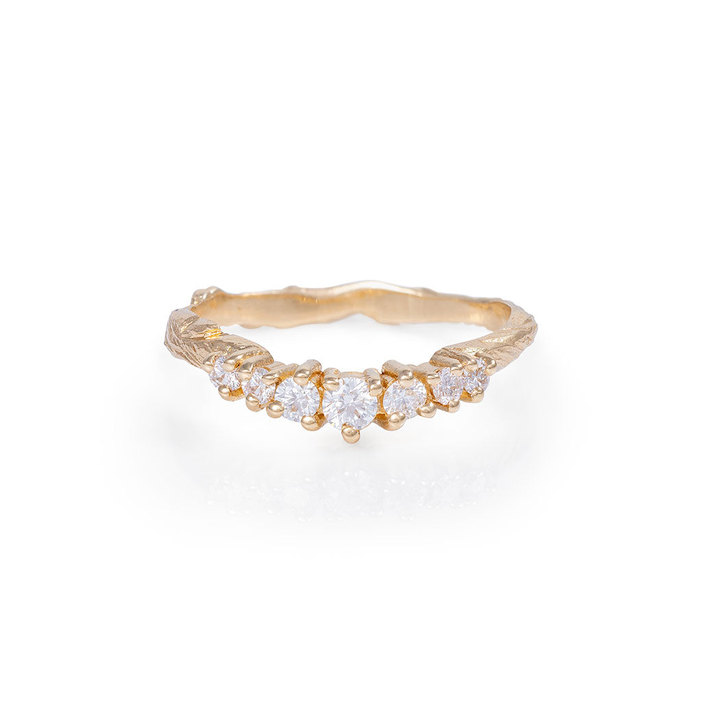 image-Solid Gold Crown of Joy Ring Classic Diamond