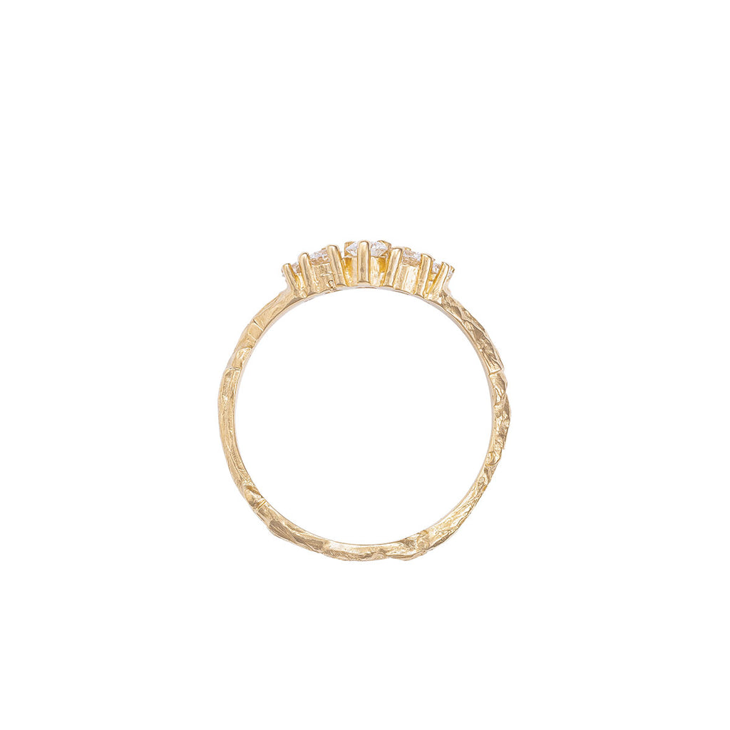 Chupi - Classic Diamond Wedding Ring - Crown of Love - Solid Gold Engagement Ring