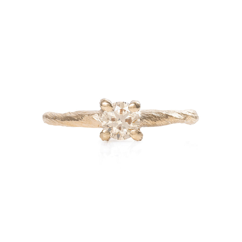 Solid Gold Darling in the Wild - Champagne Diamond Ring