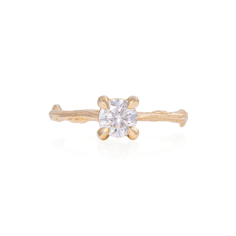 Solid Gold Darling in the Wild - Classic Diamond Ring