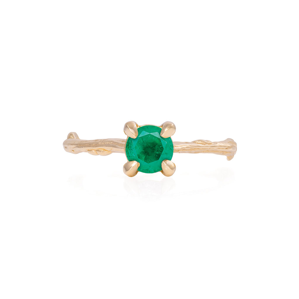 Chupi - Emerald Engagement Ring - Twig Band - Darling in the Wild