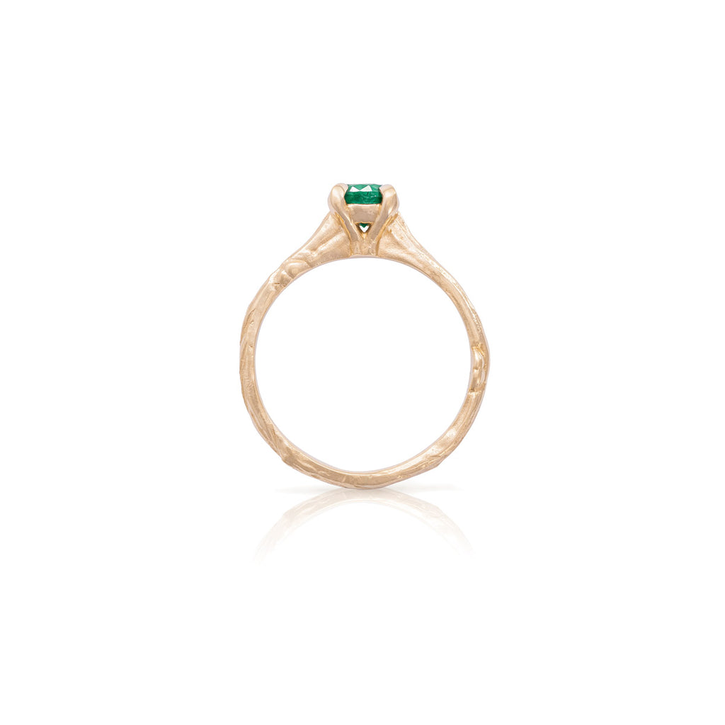 image-Solid Gold Darling in the Wild - Emerald Ring