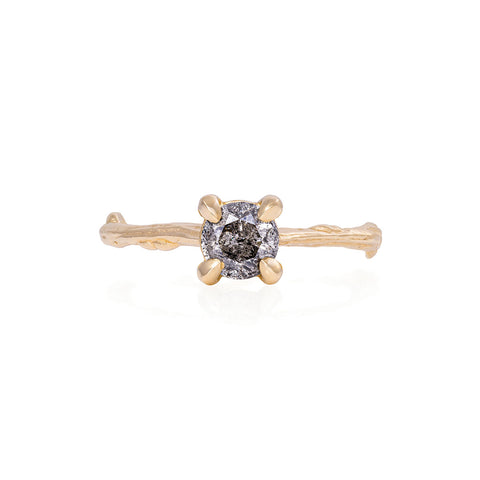 Solid Gold Darling in the Wild - Grey Diamond Ring
