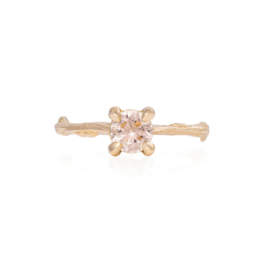 Solid Gold Darling in the Wild - Morganite Ring