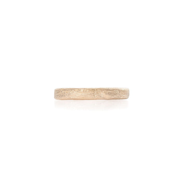 On-body shot of Chupi - Driftwood Slim Band - Mens Wedding Rings