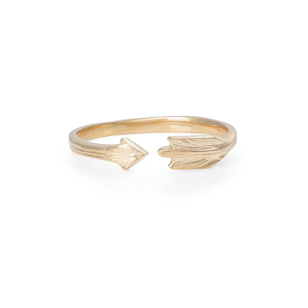 image-Chupi - Arrow Ring - Solid Gold - Follow Your Dreams