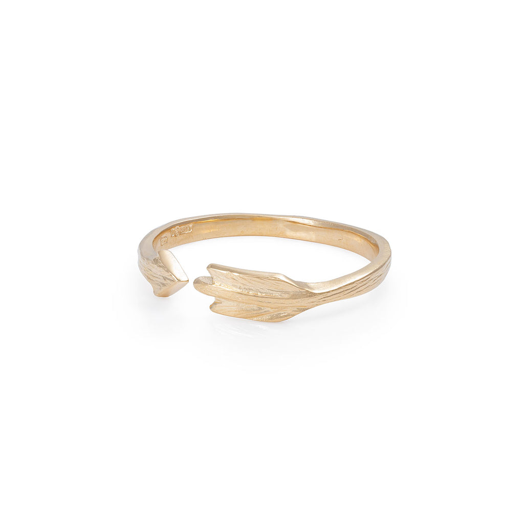 image-Solid Gold Follow your Dreams Arrow Ring