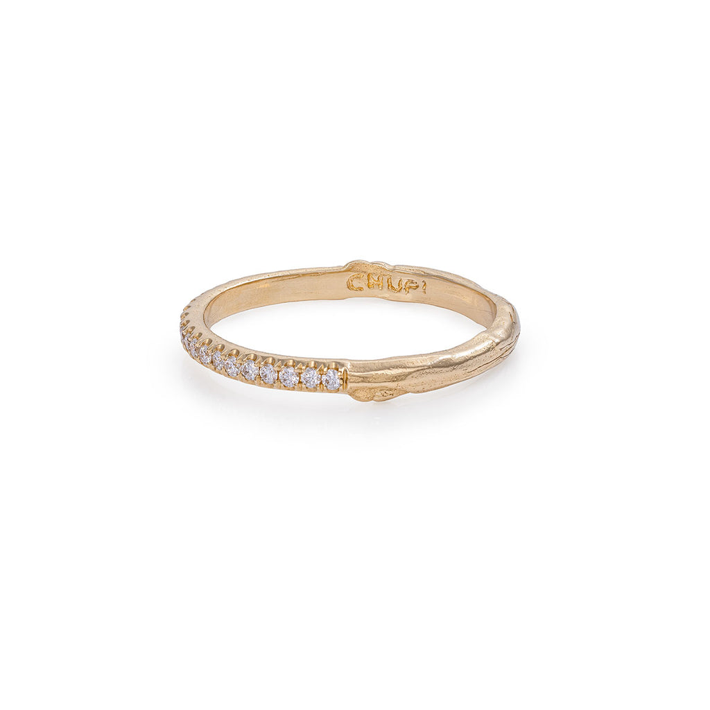 Solid Gold Hawthorn Diamond Half Eternity Ring