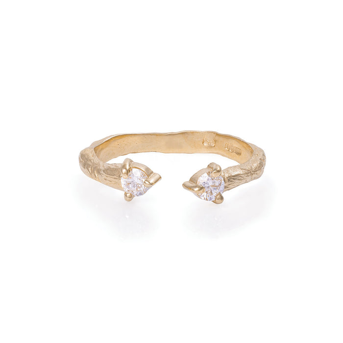 Chupi - Classic Diamond Ring - Hope & Magic Split Twig Band