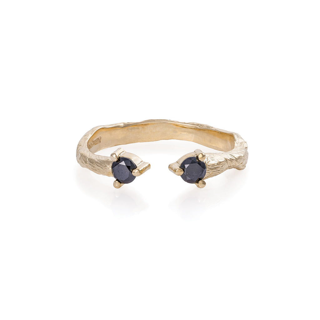 Chupi - Black Diamond Engagement Ring - Hope & Magic - Solid Gold
