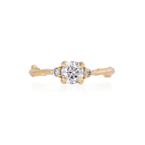 image of Solid Gold Love is All - Classic Diamond Ring