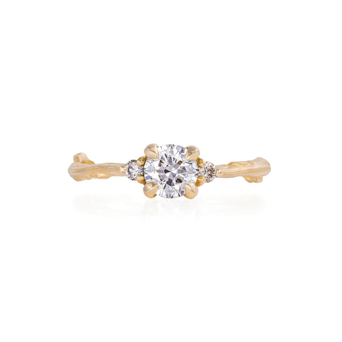 Solid Gold Love is All - Classic Diamond Ring