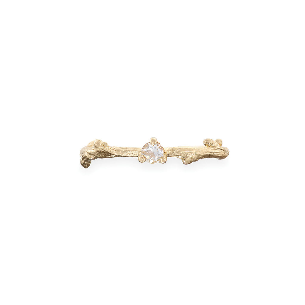 image-Solid Gold Lucky Star Birthstone Ring
